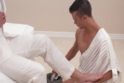 MormonBoyz - old Cult Leader Daddy drills young submissive